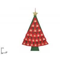Calendario Avvento Albero di Natale c/sacchetti