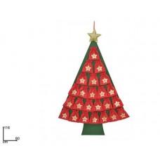 Calendario Avvento Albero di Natale H 116x80cm