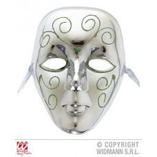 Maschera Argento c/decoro