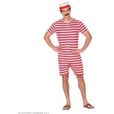 Costume BAGNO RETRO' Rosso - Tg S 48/50