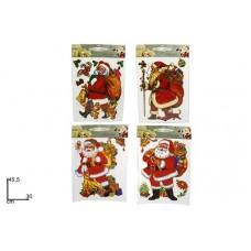 Vetrofania Babbo Natale - 4 mod ass