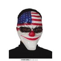 Maschera Clown IT America in plastica rigida