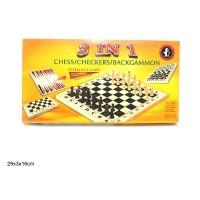 Gioco Scacchi/Dadi/Backgammon 3 in 1
