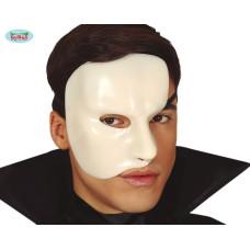 Maschera Bianca Mezzo Viso in plastica rigida