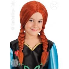 Parrucca Anna Frozen c/trecce