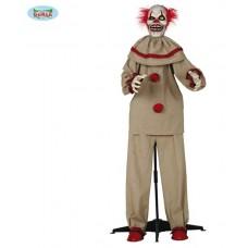 Clown Horror su base c/luce, suono e movimento 150 cm