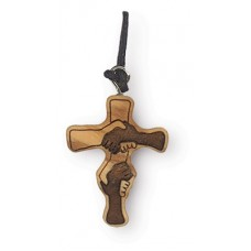 Collana Croce dell'Amicizia in ulivo