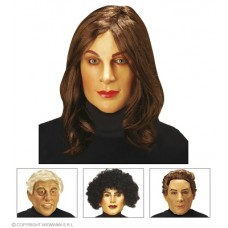 Maschera Donna/Uomo c/parrucca