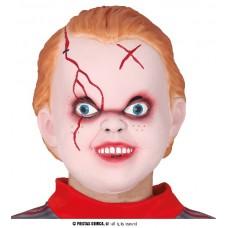 Maschera Bambola Horror in lattice