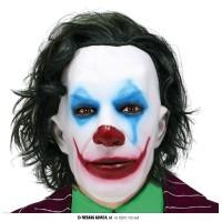 Maschera Joker c/capelli in lattice