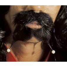 Baffi Neri Pirata c/pizzetto e perle