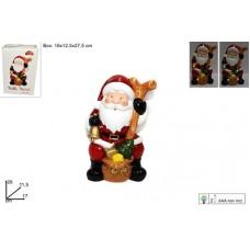 Babbo Natale c/luce led 26 cm