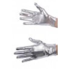 Guanti Argento Metallizzati Corti 22 cm