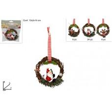 Appendino legno c/sogg natalizi 8 cm