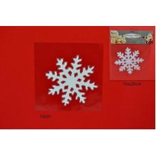 Vetrofania Gel Fiocco Neve 12 cm