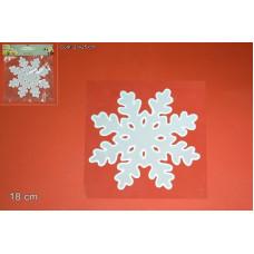Vetrofania Gel Fiocco Neve 18 cm