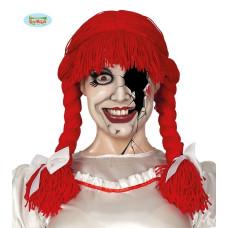 Parrucca Bambola Horror Rossa c/trecce