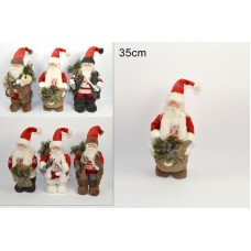 Babbo Natale pupazzo 35 cm mod ass