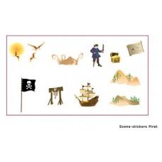 Adesivi x deco muro scene Pirata