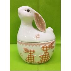Barattolo Gallina/Coniglio in ceramica