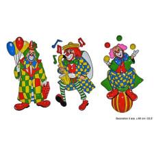 Deco Clown 60 cm - 3 mod ass