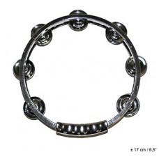Cembalo c/piat metal oro/arg 17 cm