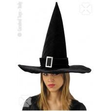 Cappello Strega Nero in velluto