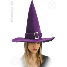 Cappello Strega Viola in velluto
