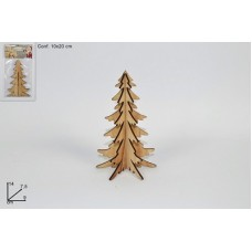 Albero Legno 3D - 14 cm