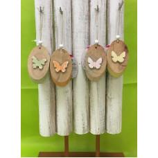 Appendino Farfalla in legno  c/espositore - 3 col ass