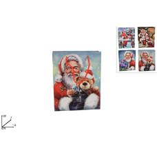 Busta Regalo Babbo Natale 14x18 cm