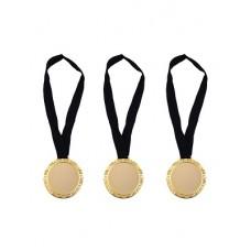 Bst. 3 Medaglie Oro c/collana nera 12 cm