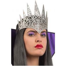 Corona Regina Argento in tessuto Intagliato