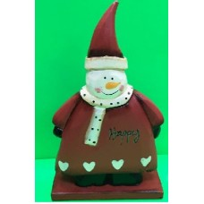 Babbo Natale/Pupazzo Neve ass. in Legno 17 cm