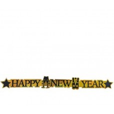Festone Happy New Year Oro 105 cm