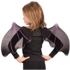 Ali Pipistrello Nere c/glitter viola