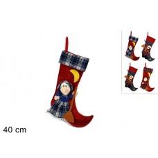 Calza Befana - 4 col ass 40 cm