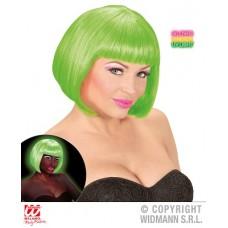 Parrucca Corta Verde Fluo