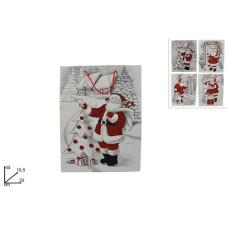 Busta Regalo Babbo Natale 33x45 cm - 4 mod ass