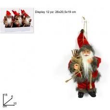 Appendino Babbo Natale 18 cm mod ass
