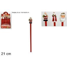 Matita Babbo Natale 21 cm - 3 mod ass