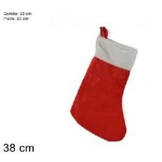 Calza Befana Rossa in ciniglia 38 cm