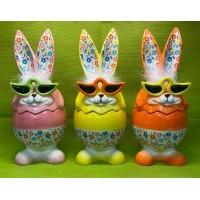 Coniglio Cofanetto in ceramica 27x11 cm - 4 col ass