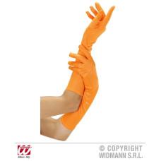 Guanti Arancioni Cotone Lunghi 42 cm