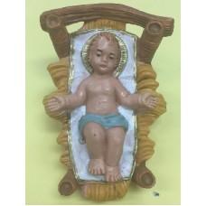 Bambino con culla - 15 cm