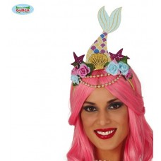 Cerchietto Sirena con fiori