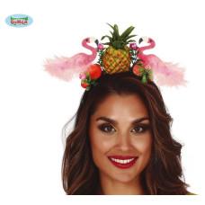 Cerchietto Fenicottero con ananas