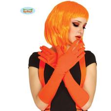 Guanti Arancioni Cotone Lunghi 45 cm