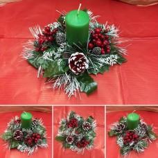 Centrotavola girocandela bacche (senza candela) diam 23 cm
