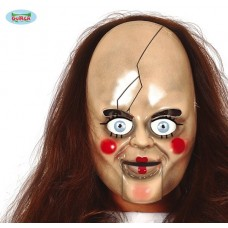 Maschera Bambola Horror in pvc